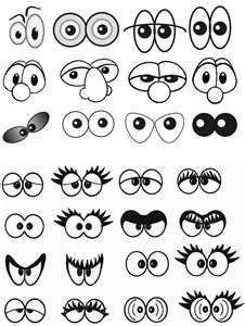 The Eyes have it - this would be great for teaching adjectives by having students assign one adjective to each set of eyes