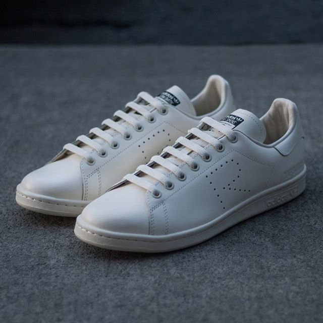New Arrivals - adidas by Raf Simons Stan Smith in Cream/White for SS17. Now available in-store + online. Link in bio #adidas #rafsimons #nomadtoronto