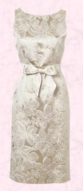 Brocade dress -- very Hepburnesque (or Jackei O.)! ...//MD