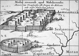 Iroquois Village, 1651  Nicolaes (Claes) Jansz Visscher