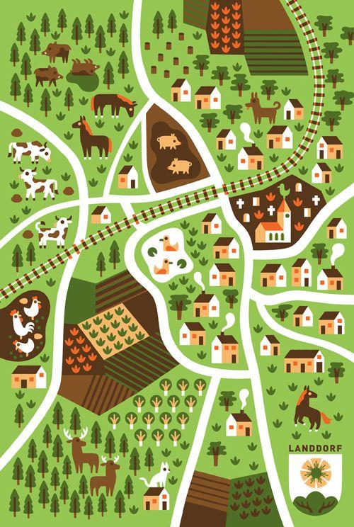 Countryside - Till Hafenbrak Illustration