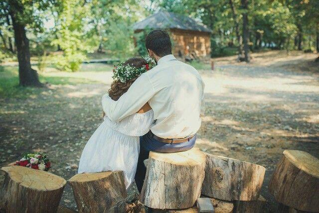Первая встреча жениха и невесты. #рустик #рустикальнаясвадьба #фотосессия #идеифотосессии