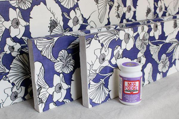 Decoupage Fabric Shelf