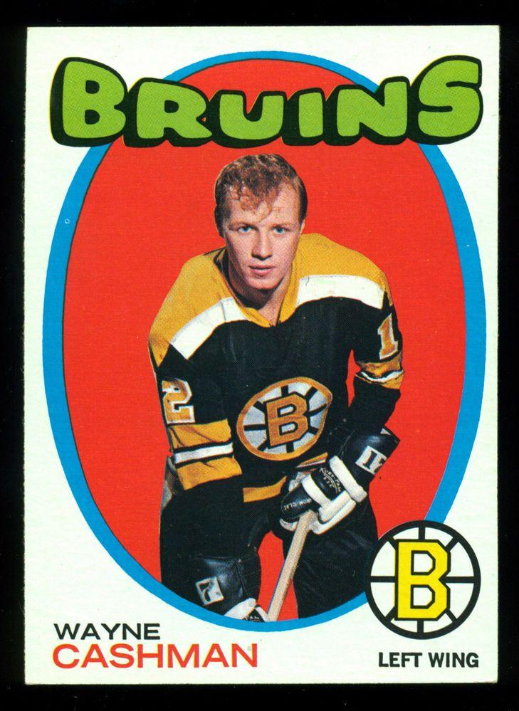 1971-72 TOPPS #129 WAYNE CASHMAN NM BOSTON BRUINS HOCKEY CARD FREE SHIP TO USA #BostonBruins
