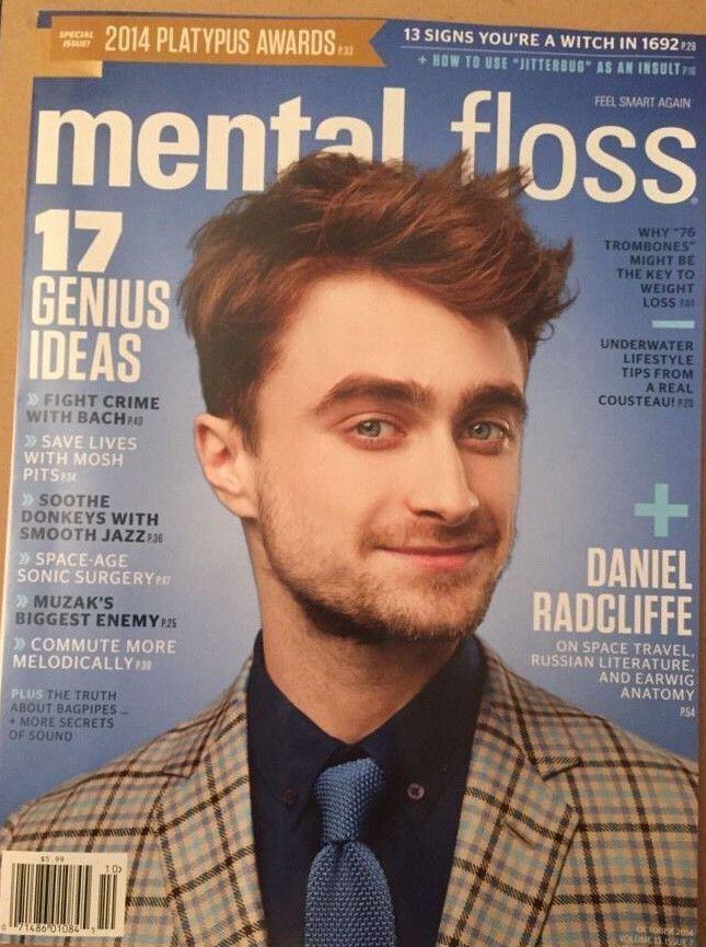 Mental Floss Magazine Daniel Radcliffe 17 Genius Ideas Bach October 2014