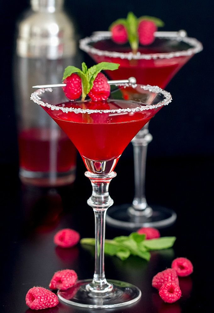 Berry Merry Christmas Martini - a delightful raspberry/lemon flavored martini.  Festive enough for the holidays and tasty enough for every day!