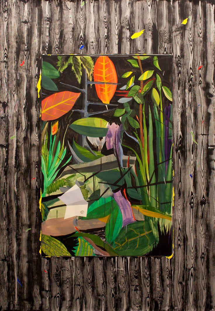 Jardín Vienés de Miki Leal. Me gustan los colores y al ver la obra me sugiere una naturaleza imaginaria.