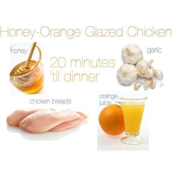 Honey Orange Glazed Chicken, healthy & ready in 20 minutes