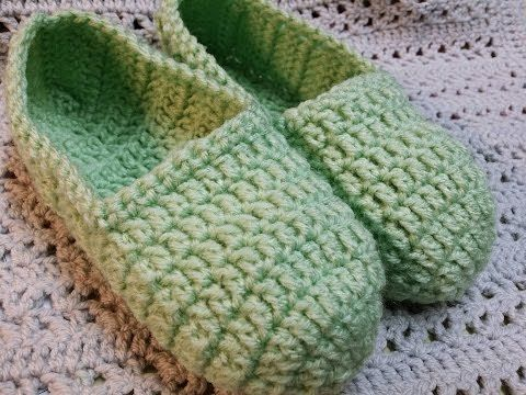 Tutorial Crochet Baby Ballet Booties : 25+ best ideas about Easy Crochet Slippers on Pinterest ...