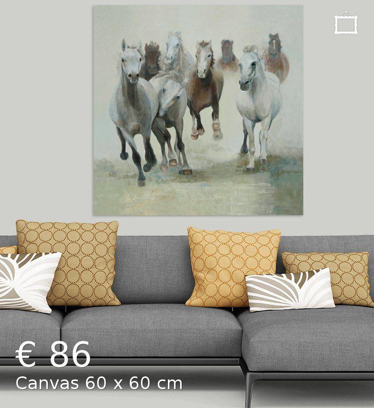 Nieuw in mijn Werk aan de Muur shop: Paarden, groep paarden in galop