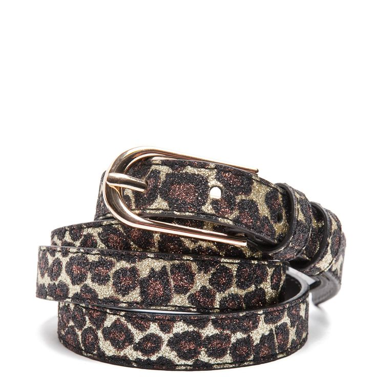 Animal print glitter belt