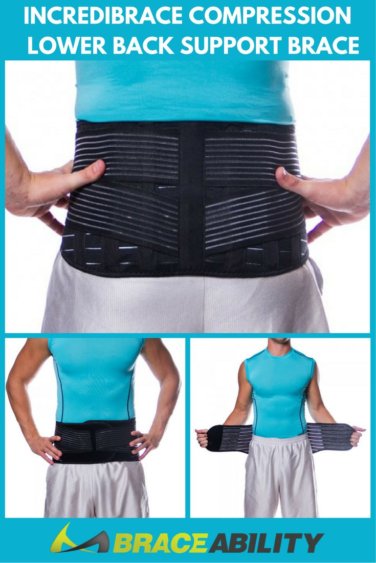 Incredibrace Compression Lower Back Support Brace - The Incredibrace low back brace is perfect for lower back pain and many other back problems. This low back brace quickly brings comfort and energy to the body of athletes or just the active person. While preventing pain in the back, this lower back support brace also provides the support and mobility needed to keep the wearer moving and active. | BraceAbility #GetRidOfBackPain