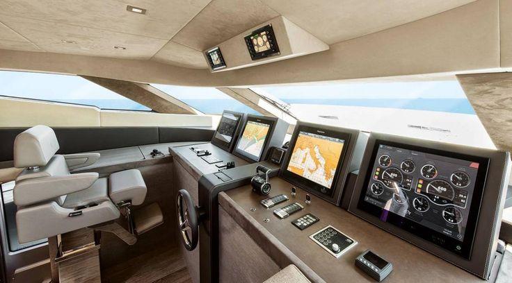 Monte Carlo Yachts MC105 Pilot House Design