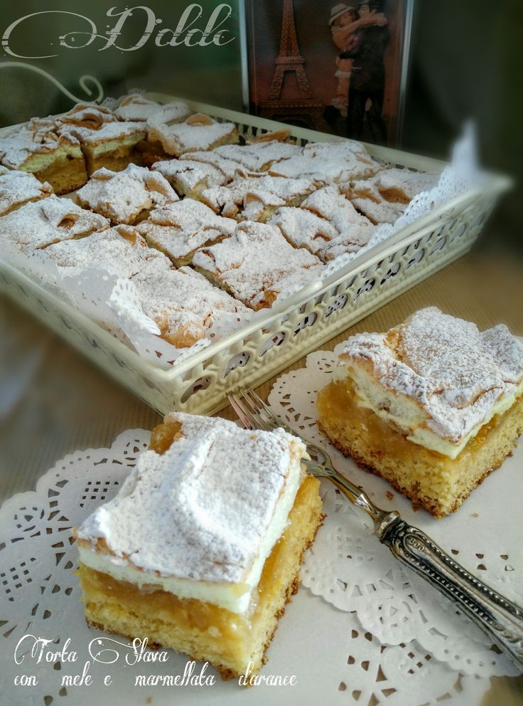 Slavic cake with caramelized apples and jam marmalade - Torta slava con mele caramellate e confettura d'arance