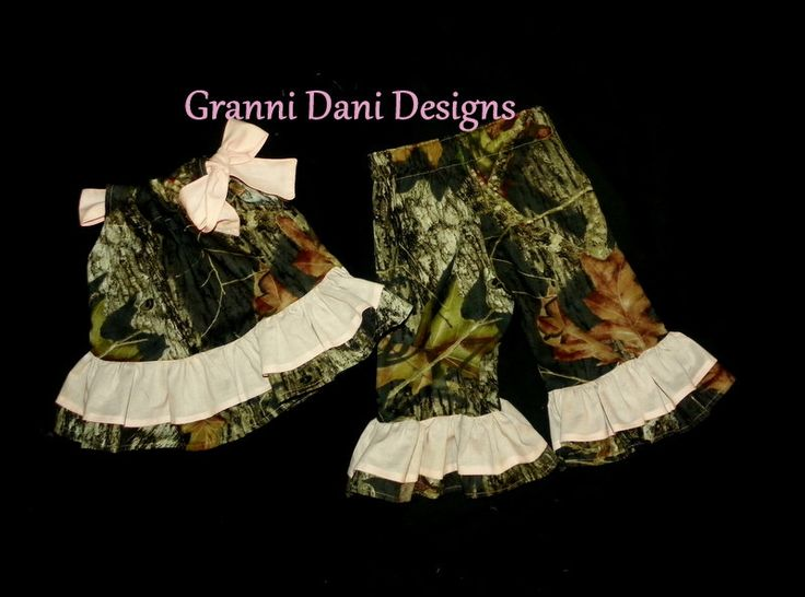 MOSSY+OAK+Camo+camouflage+top+and+matching+by+GranniDaniDesigns,+$39.00