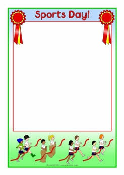 Sports Day A4 page borders (SB4764) - SparkleBox