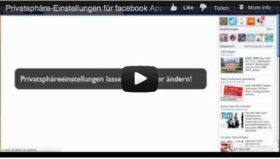 Video von sinaswelt.com das zeigt, wie spielend einfach man die Privatsphäre-Einstellungen für facebook ändern kann.