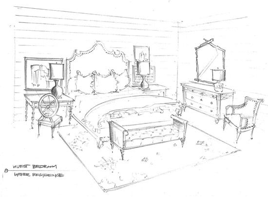 Sketch A Room 20 best interior sketches: floor plans & renderings images on