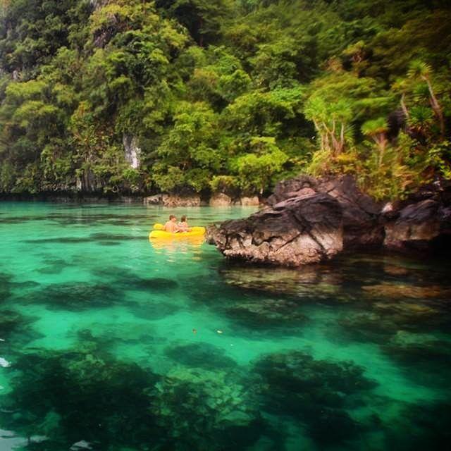Caiaque águas verdes e muita natureza. Um pouco de Filipinas é o que queríamos para hoje! E você onde gostaria de estar?  #elnido #filipinas #philippines #pegadasnaestrada #picoftheday #palawan #asia #amazing #aquelasuaviagem #natgeotravel #awesome_shots #awesome #outdoor #aventura #bestvacations #worlds #viajenaviagem #traveling #instadaily #instamood #viagem #liveoutdoors #lonelyplanet_br