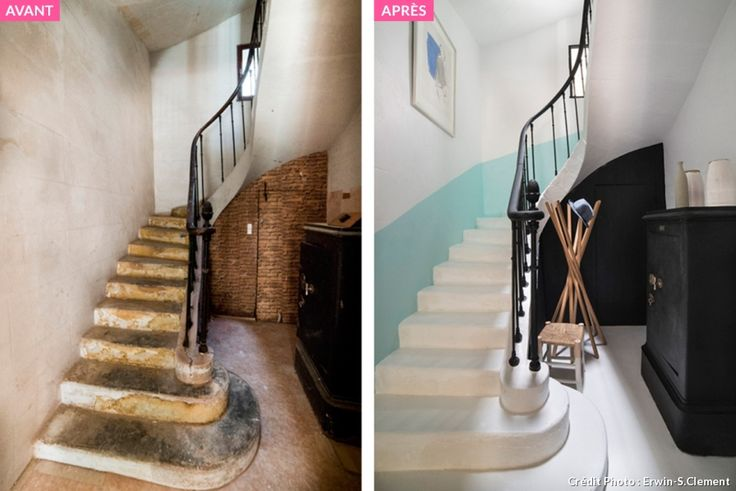 17 best images about escaliers on pinterest cuisine for Comment repeindre un escalier