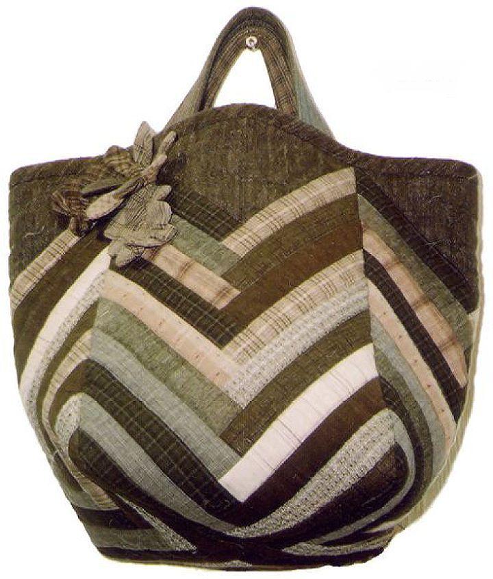 【代購】貝田明美 手提袋材料包/布條拼布