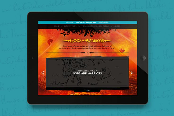 Gods and Warriors website design for Penguin - Fiasco Design