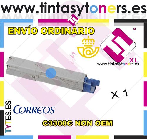 ONER C3300 CIAN COMPATIBLE OKI NON OEM CARTUCHO NO ORIGINAL 43459435 43459331