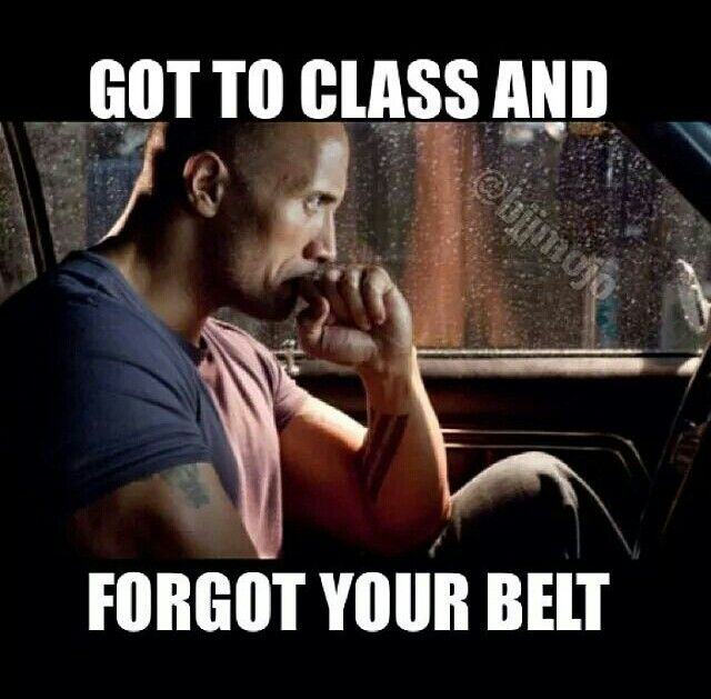 yep. Then the whole class you feel awkward
