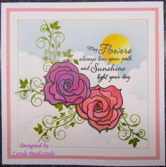 Handmade greeting card  Birthday Thank you by CraftyMrsPanky