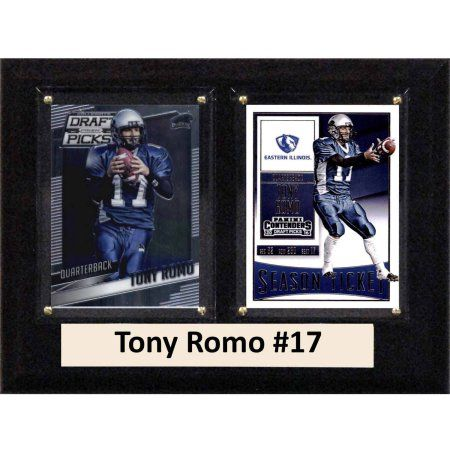 C & I Collectables Ncaa 6 inch x 8 inch Tony Romo Eastern Illinois Panthers 2 Card Plaque