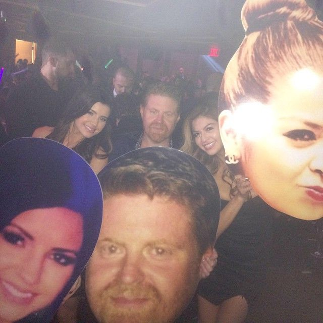 Big head cutouts at Hakkasan nightclub in Las Vegas for the VIP guests. What a great idea.