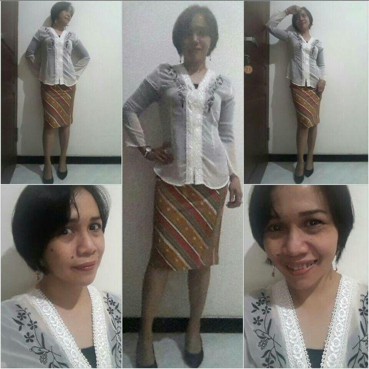 Kebaya and batik skirt on Kartini Day