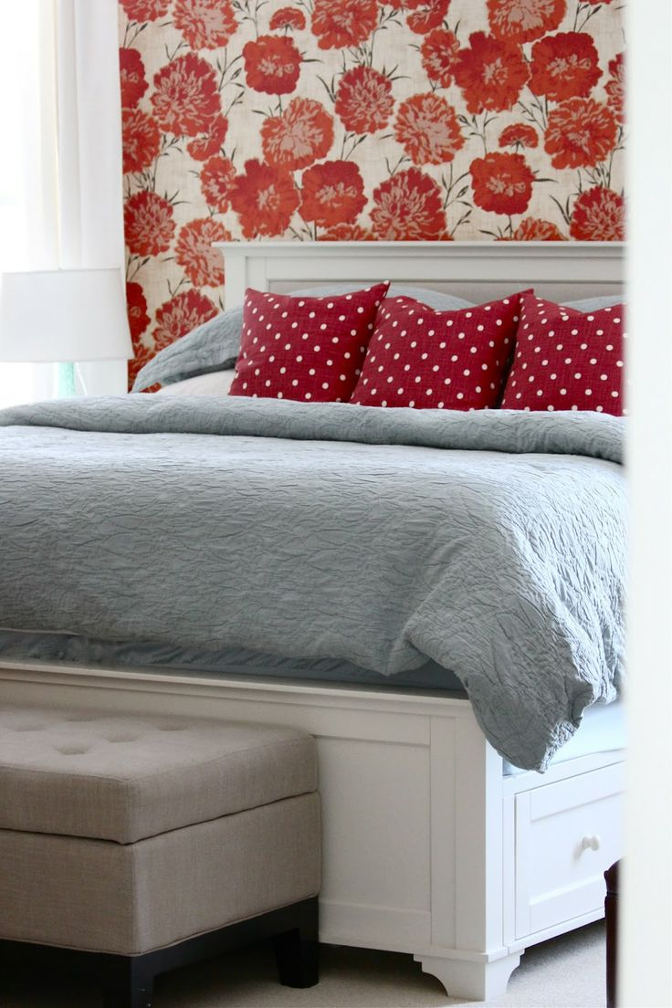 Master Bedroom Makeover (Before and After) Using Complementary Colors Blue  and Orange