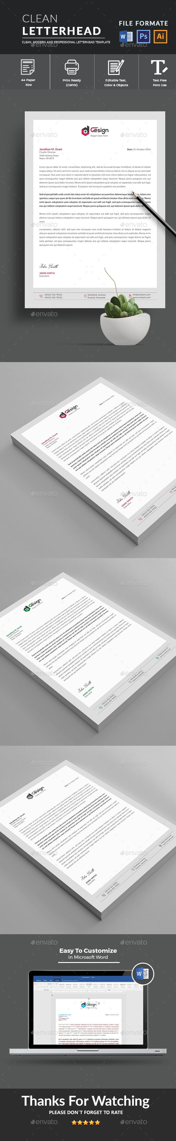 Letterhead - Stationery Print Templates Download here: https://graphicriver.net/item/letterhead/19436707?ref=classicdesignp