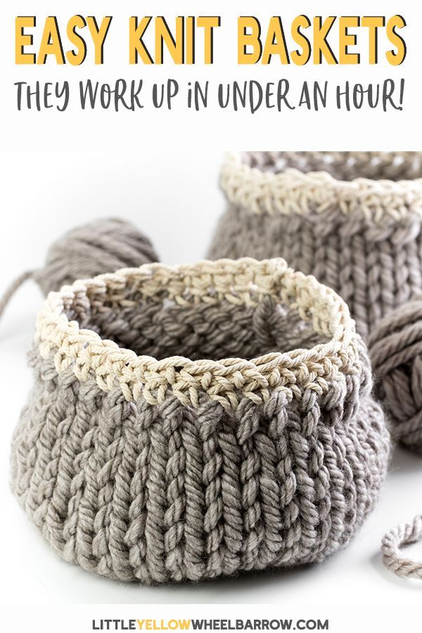 Free Diy Basket Pattern You Can Knit Up In A Flash Easy Craft