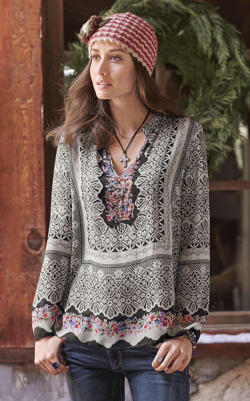 Vita Tunic - Lovely, floral silk georgette.
