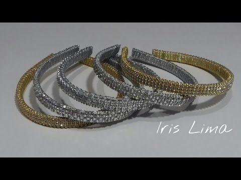 Como decorar diademas con strass, perlas, medias perlas e interlon. Diademas Faciles - YouTube