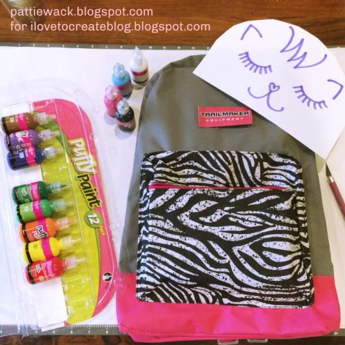 iLoveToCreate Blog: Puffy Paint Backpack for Back-To-School