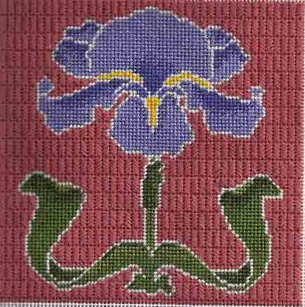 Beginning needlepoint shading class with Art Needlepoint. Class is free with purchase of kit.    Master shading with needleblending with my easy method that even beginning stitchers can do. Image & class copyright Napa Needlepoint.