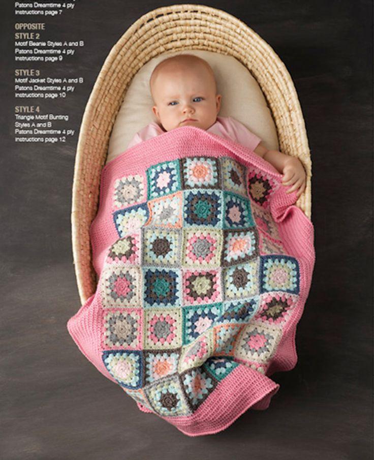 Ravelry: Crochet motif pram blanket by Patons Australia