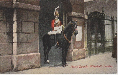 M & L Postcard - Horse Guards Whitehall London c1910