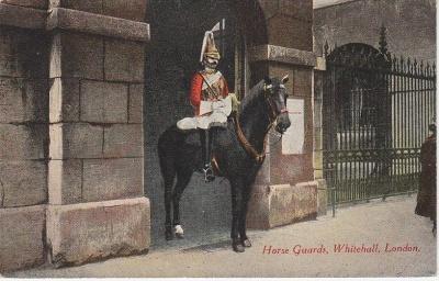 M & L Postcard - Horse Guards Whitehall London c1910
