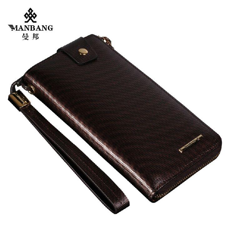 Мужской бумажник бренд роскошные кожаные сцепления мужские кожаные портмоне manbang мужской Дизайнер зажимы для денег MBS8397F