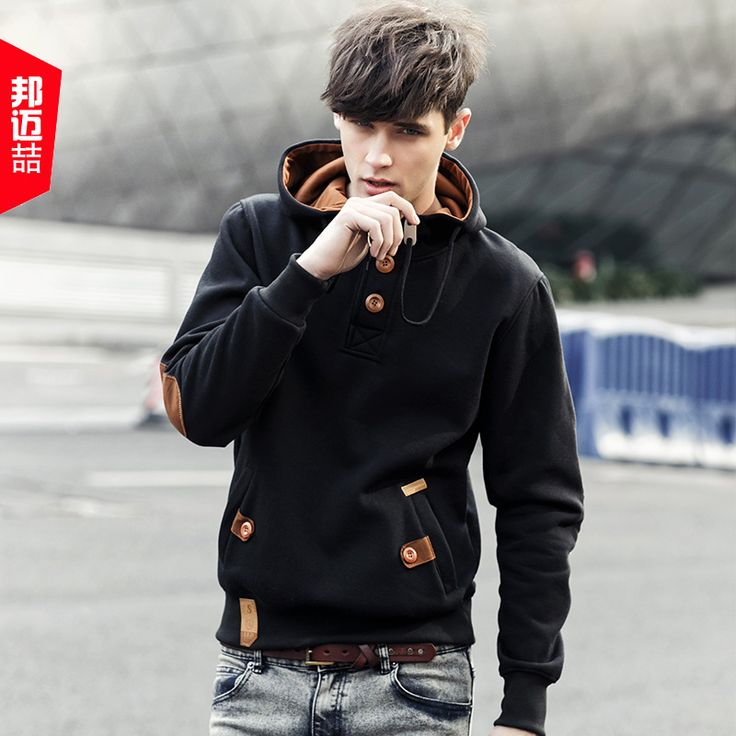 Hoodie with faux leather details - Buywithagents