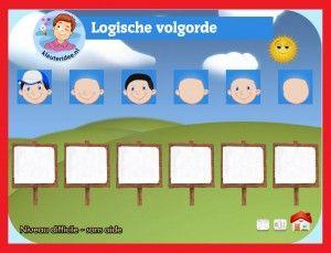 Logische volgorde  met kleuters op digibord of computer op kleuteridee, Kindergarten math game for IBW or computer