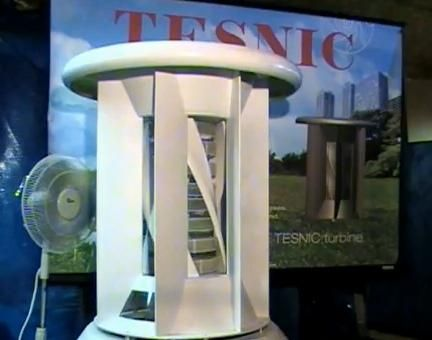 Tesnic Home Wind Generator - This type of generator is from the vertical axis wind turbine family. It consists of a rotor assembly that has more than two hundred disks stacked on top of each other with a narrow two millimeter gap in between each one of them.