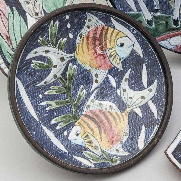 Swedish Tilgmans Art Pottery Plate Ref: P3121
