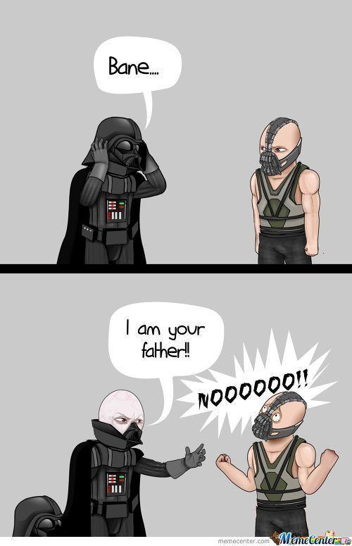 funny  #darthvader #starwars #bane #batman