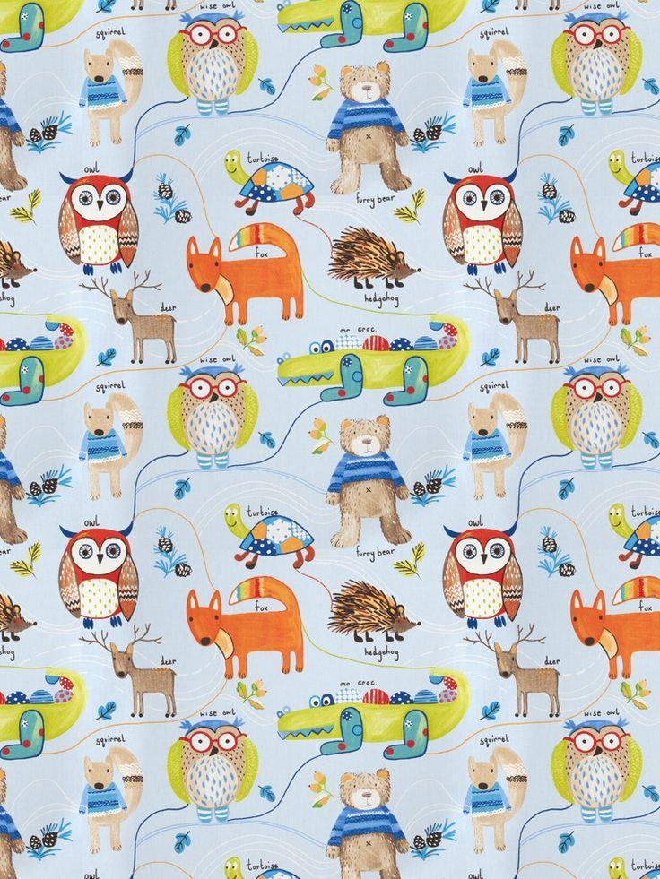 28 best color trend dusk blue images on pinterest color for Childrens fabric prints