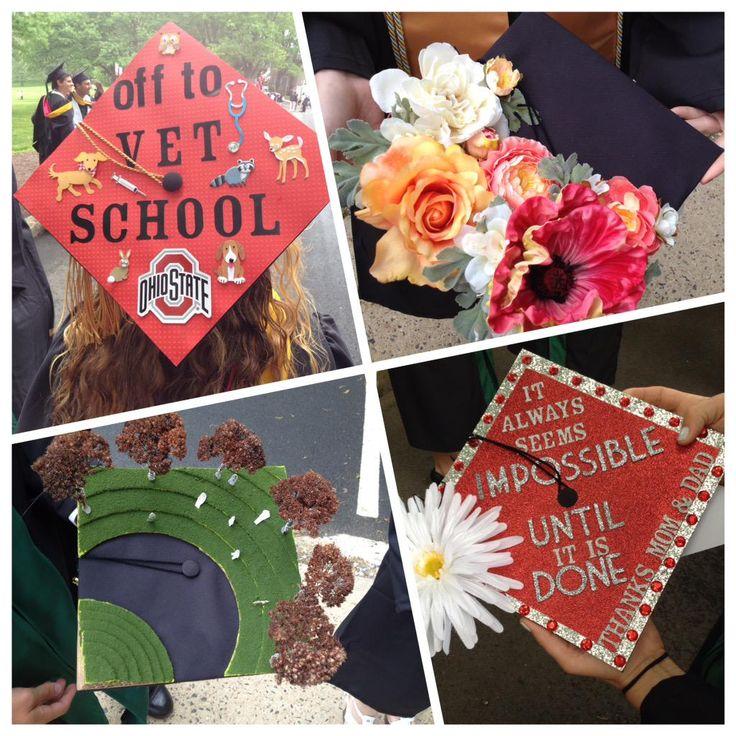 Creative grad caps at rutgers 2015 commencement for 2015 graduation decoration ideas
